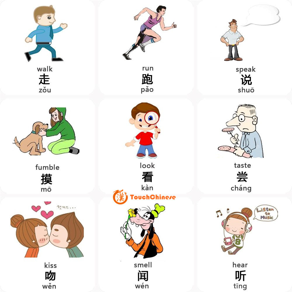 MANDARIN CHINESE WORDS LIST - VERBS - TouchChinese